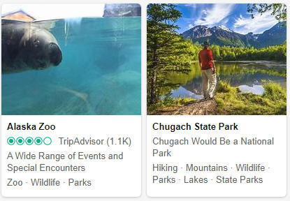 Alaska Tourist Attractions