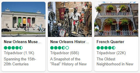 Attractions in Louisiana