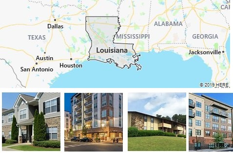 List of Apartments in Louisiana