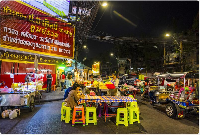 Almost everything along Khao San Road is more expensive than normal, and it's worth being careful there after dark