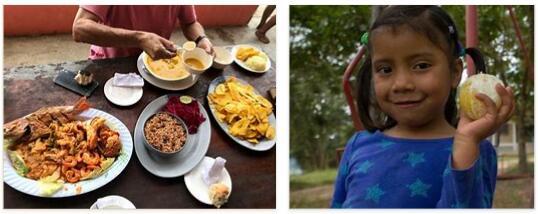 Eating in Honduras